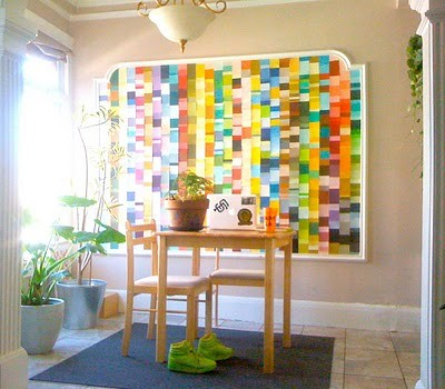 50 Fun Things to do with Paint Chip Samples | Broke & Healthy