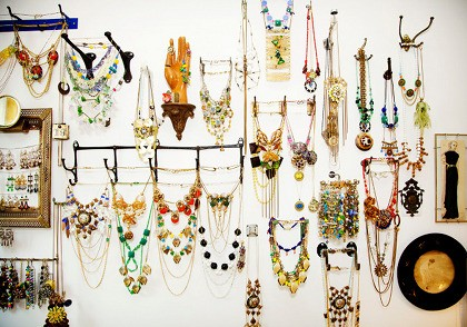 hang jewelry on hooks