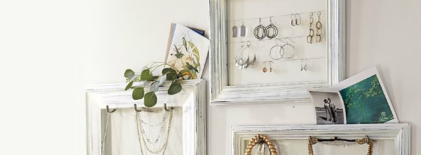 jewelry desk organization ideas 50 fun ways to hang your jewelry broke healthy