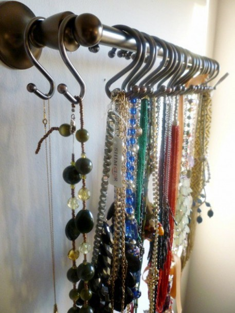 shower hangers hang jewelry