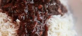 Crock Pot Beef Roast with Red Wine Gravy over Rice - Broke and Healthy (1)