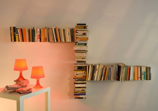 88 fun ways to display books broke healthy How to make an invisible bookshelf