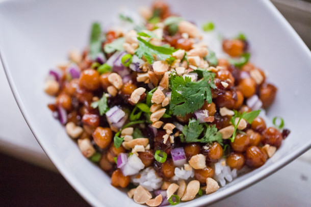 Kung Pao Chickpeas  Rice79¢ Per Serving Broke  Healthy